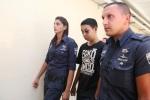 Terrorist escorted to court