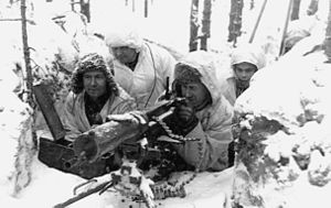 Finns with a captured Soviet Maxim