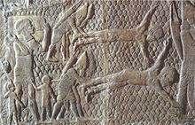 Assyrians flaying rebels