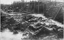 Gassed British trench