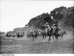 German cavalry at Kilimanjaro