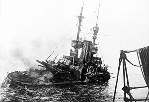 HMS Irresistible sinking