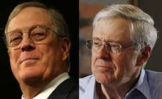 Koch brothers - majority owners of the Republican Party