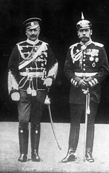 The Czar and the Kaiser, who seem to have put on the uniforms