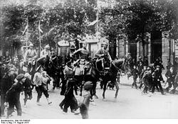 German cavalry enters Warsaw
