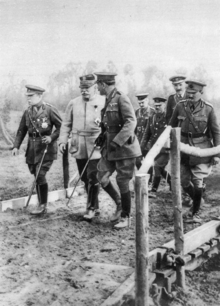 Haig, Joffre and French in a rare visit to the front