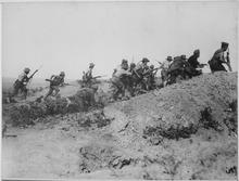 Aussies charging just before the Anzac evacuation