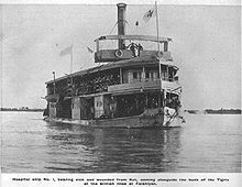 British hospital ship on the Tigris