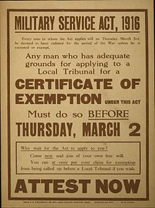 1916 conscription notice