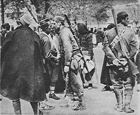 Montenegran soldiers