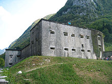 Austrian fort on the Isonzo front