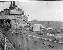 HMS Chester - Jack's gun
