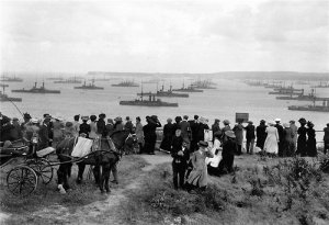 The Grand fleet at Scapa Flow