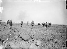 Tommys advancing in the Somme Offensive