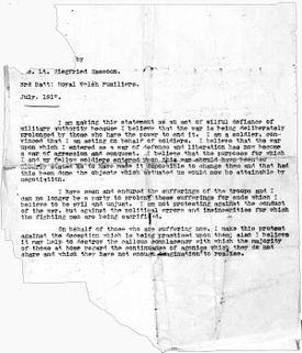 A Soldier's Declaration