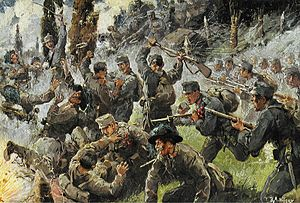 Battle of Doberdo (beginning of Isonzo six)