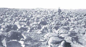 Exhausted Italian troops