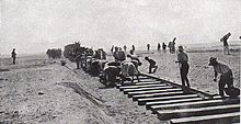 Building the railroad across Sinai