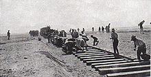 Building the railroad across Sinai