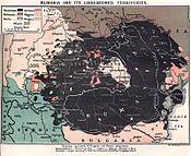 Romanians (black) in 1914