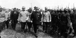 Joffre inspects Romanian troops