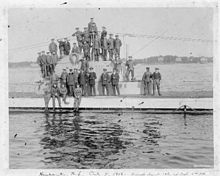 The crew of U-53 at Newport