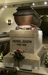 Franz Joseph's tomb in the Vienna crypts
