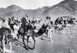 Bedouin raiders - Lawrence on the dark camel