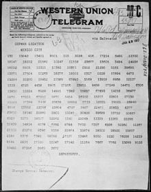 Coded telegram